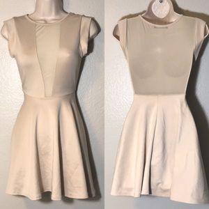 The Vintage Shop nude sheer/mesh mini dress Small